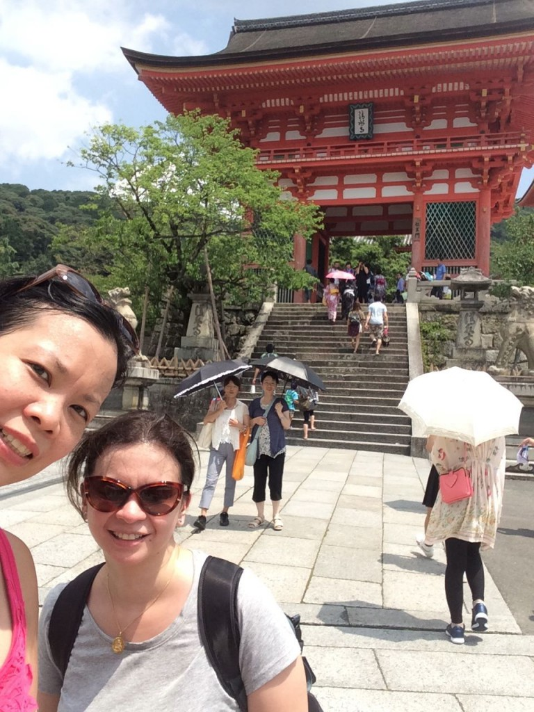 our wefie at Kiyomizu-dera entrance