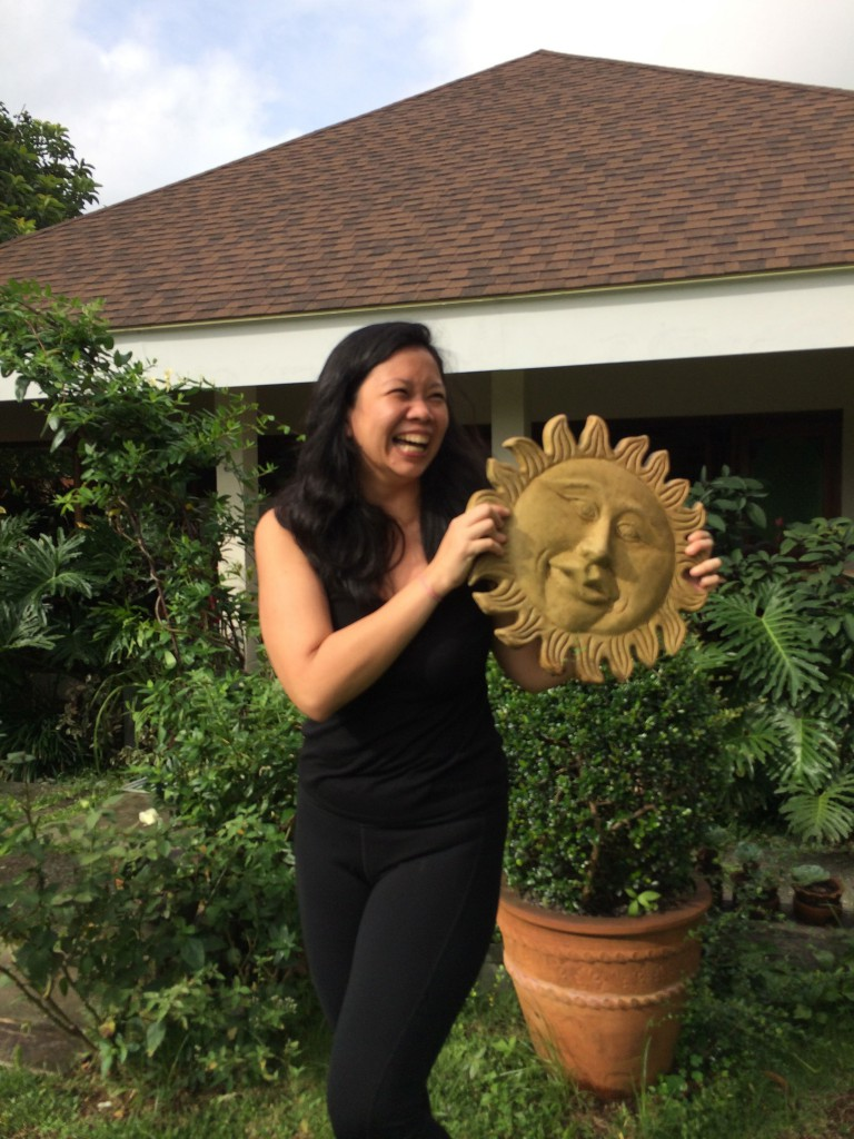 Last Saturday, I was silly and definitely as happy as the sun I found in the restaurant's garden.