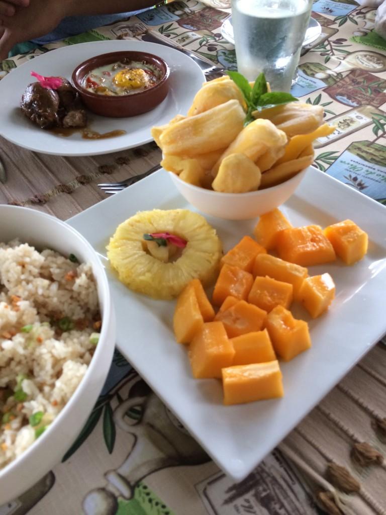 Breakfast spread at Narra Hill