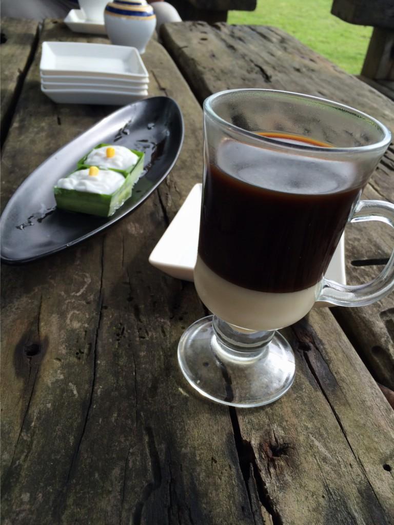 Tako and Thai Coffee at Lime and Basil